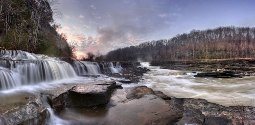 statepark red panorama white water clouds sunrise river waterfall tn tennessee falls sp warren rockisland caneyfork warrencounty rockislandstatepark whitecounty risp caneyforkriver lowergreatfalls