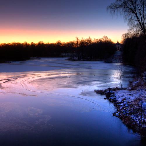 morning winter castle ice river dawn sweden sverige hdr stångån östergötland sigma1020mmf456exdchsm bjärkasäby johanklovsjö