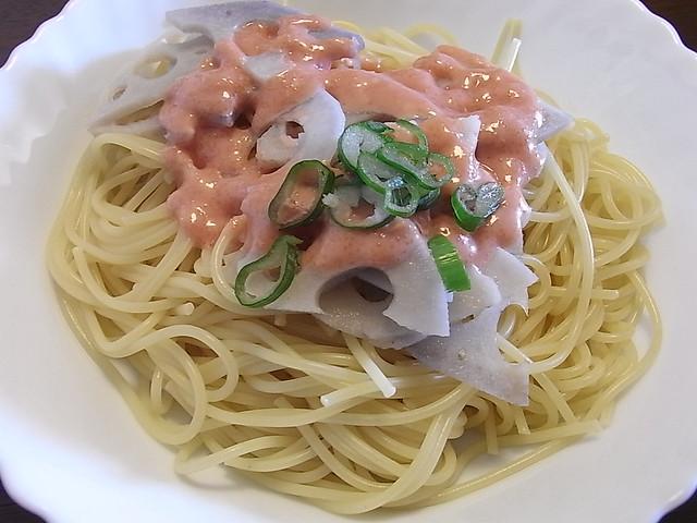 Tarako & Renkon Spaghetti | Cooked using Kewpie sauce ...