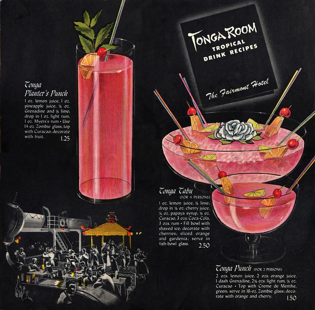 Tonga Room Tropical Drink Recipes 2