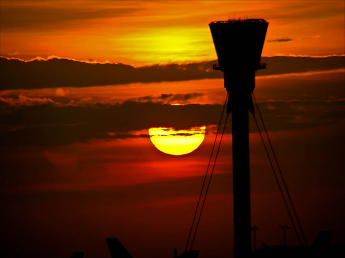 Sunset at Heathrow Airport