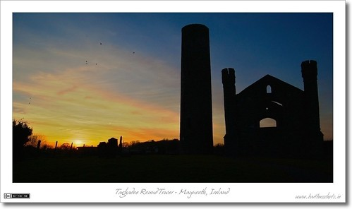 Sunset at Taghadoe Round Tower