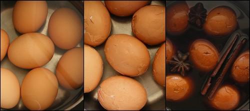 Making Chinese Tea Eggs