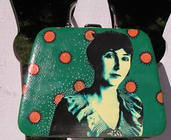 Peggy Bacon makeup case, green side by pennylrichardsca (now at ipernity)