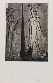 'Sculptures in the Great Temple, Philae'