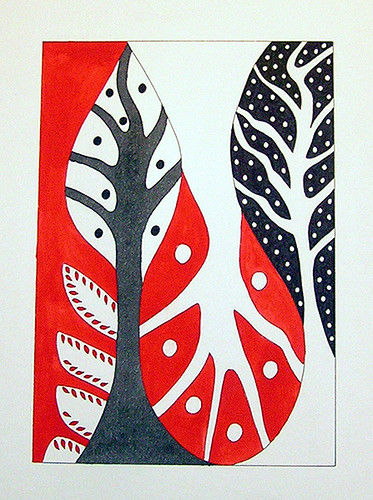 Red and Black Tree Forms