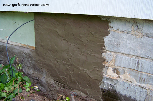 A good parge coat a best home inspection home improvement services for Parging interior basement walls