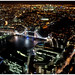London at night, viewed from The Shard