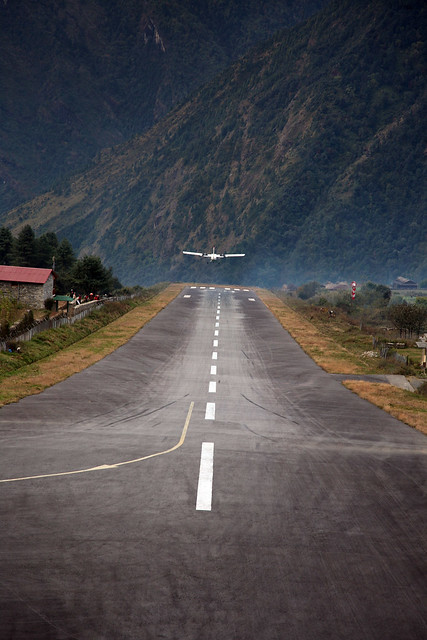 Lukla Airport take-off