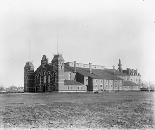 A photograph of Cartier Square Drill Hall, 1890
