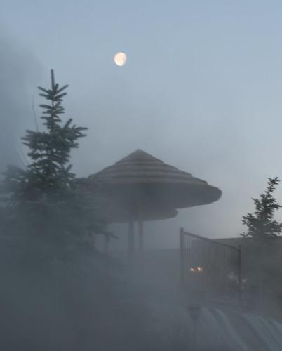 moon mist sunrise colorado steam pagosasprings