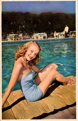 The Redhead Starlet in the Blue Bathing Suit