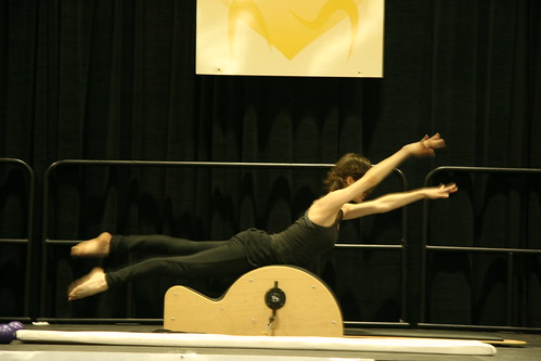 Swan on Low Barrel on Low Barrel by Manon Laplante from Le Pilates Loft