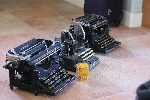 Typewriter playdate