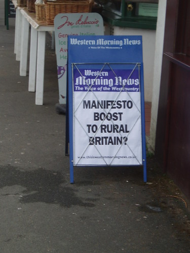 Western Morning News billboard, 5th May 2009