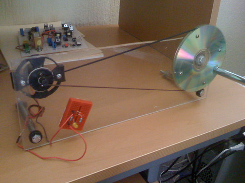 Mini generador el ctrico con un motor de cd - Mini generador electrico ...