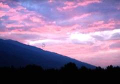 Lindo céu na região dos Balcãs