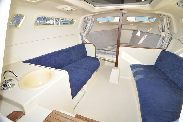 Interior and Exterior of Hunter 240 Sailboat, built 2002