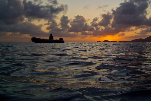 sunset orange horizon snorkeling bvi normanisland intova
