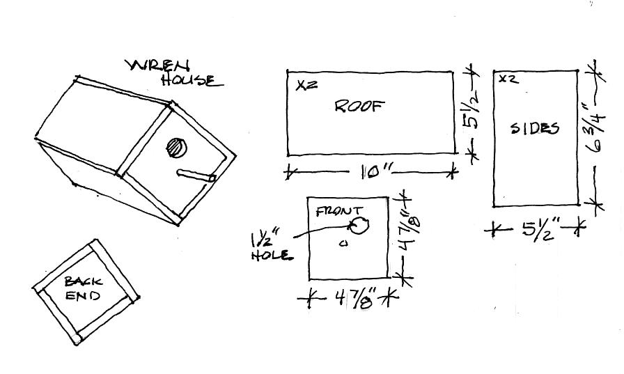 nice birdhouse blueprints #3: house wren birdhouse plans