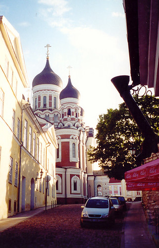 Alexander Nevsky Orthodox Cathedral, Tallinn and Street
