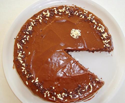 Chocolate Pacman Cake