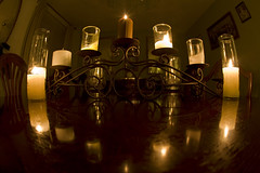 7 candles, 13 reflections