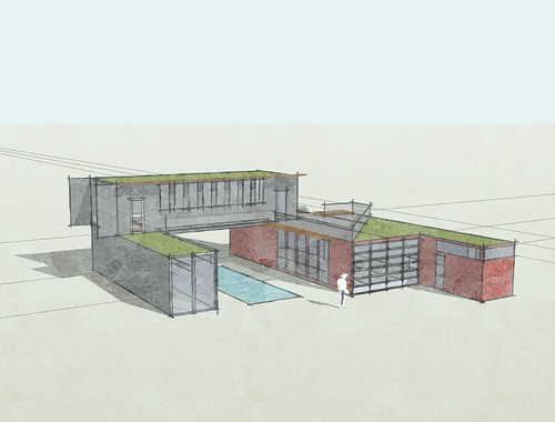 Flickriver container arq pool for Modele maison sketchup