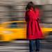 Red Coat Blur by dougoo6