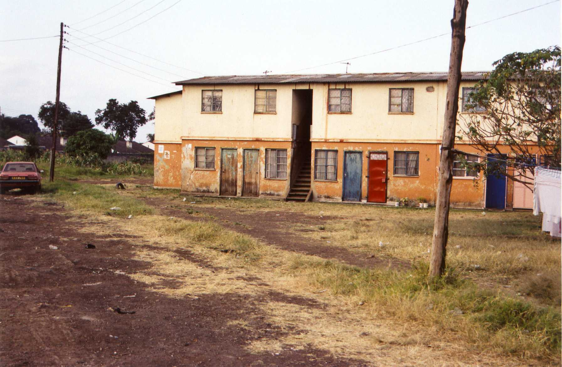 Maringo-Saul's apartment, outside (July 2003)