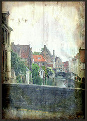 Bruges - Canal - collage