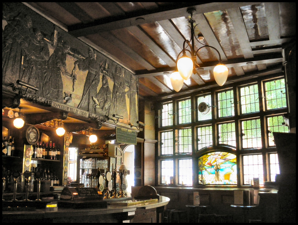 the black friar pub, london ec4 - art nouveau interior - window
