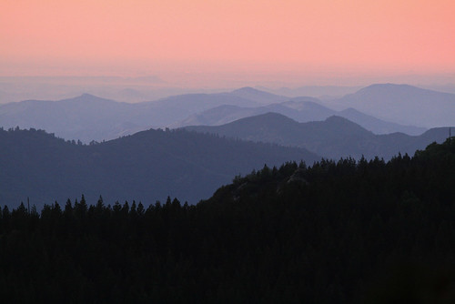trees sunset mountains forest