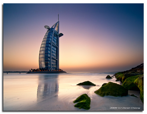 sunset sea green beach digital moss high nikon rocks long exposure dubai dynamic dusk uae burjalarab range dri hdr jumeirah blending d300 dynamicrangeincrease برجالعرب aplusphoto danielcheong danielkhc tokina1116mmf28 gettyimagesmeandafrica1