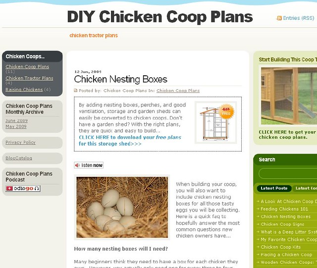 Chicken Nesting Boxes Plans