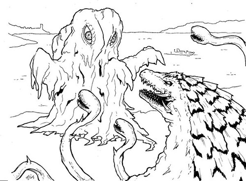 baby godzilla colouring pages