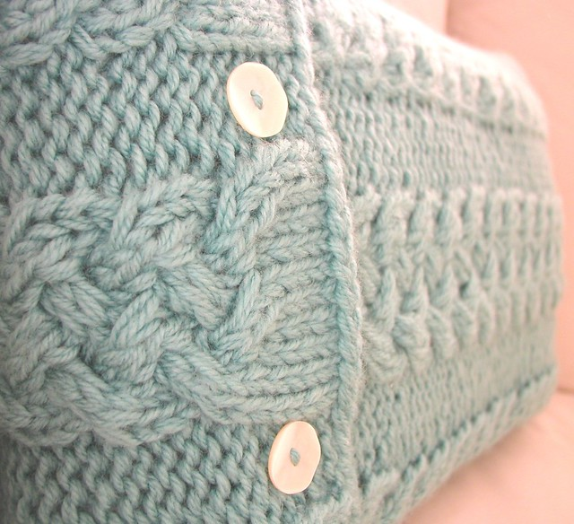Knitting Pattern Envelope Cushion : Aqua Envelope Cushion Cover A Hand Knitted Things Design. ? Flickr - Phot...