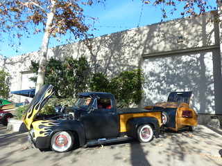 53 Ford with trailer