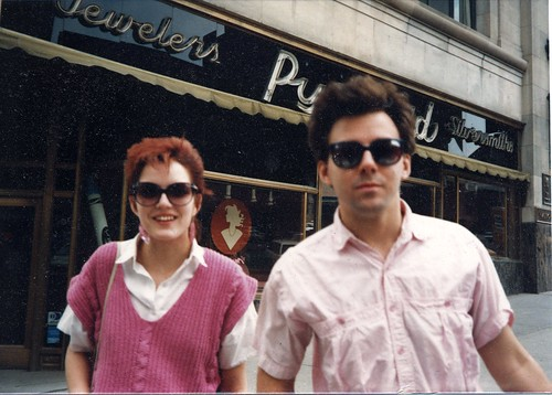 Lee and CJ, downtown Albany, 1987