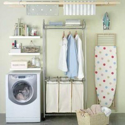 Laundry room hanging rack homes decoration tips - Hanging rack for laundry room ...