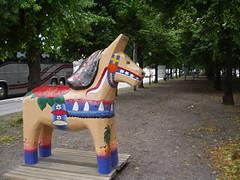 sculpture(0.0), playground(0.0), amusement ride(0.0), amusement park(0.0), art(1.0), horse(1.0), pony(1.0),