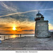 HDR Sunset Lighthouse Howth