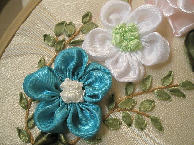 Ribbon embroidery roses flickr photo sharing
