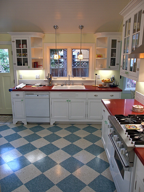 Day 230 kitchen remodel newly remodeled kitchen on a for 1920 kitchen floor tile