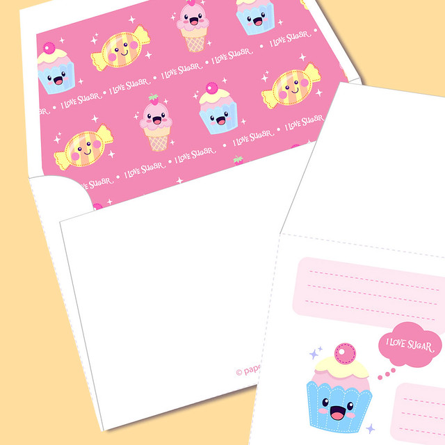 Cute Stationery Printable Kawaii Printable Stationery
