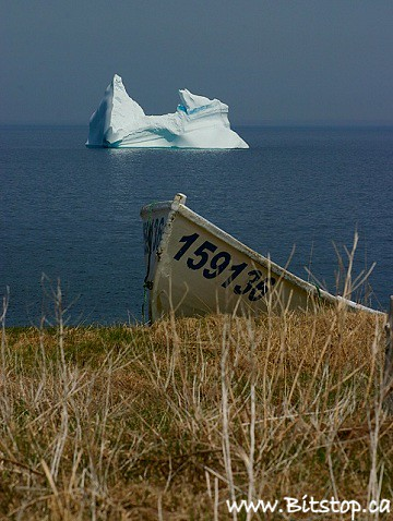 ocean seascape canada ice newfoundland landscape boat scenery scenic atlantic iceberg dory nfld eastcoast conceptionbaynorth