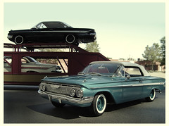 1961 Chevy Impalas being delivered