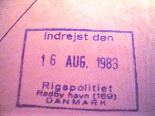 Passport stamp, Denmark