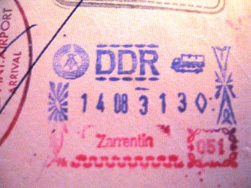 DDR passport stamp, 1983