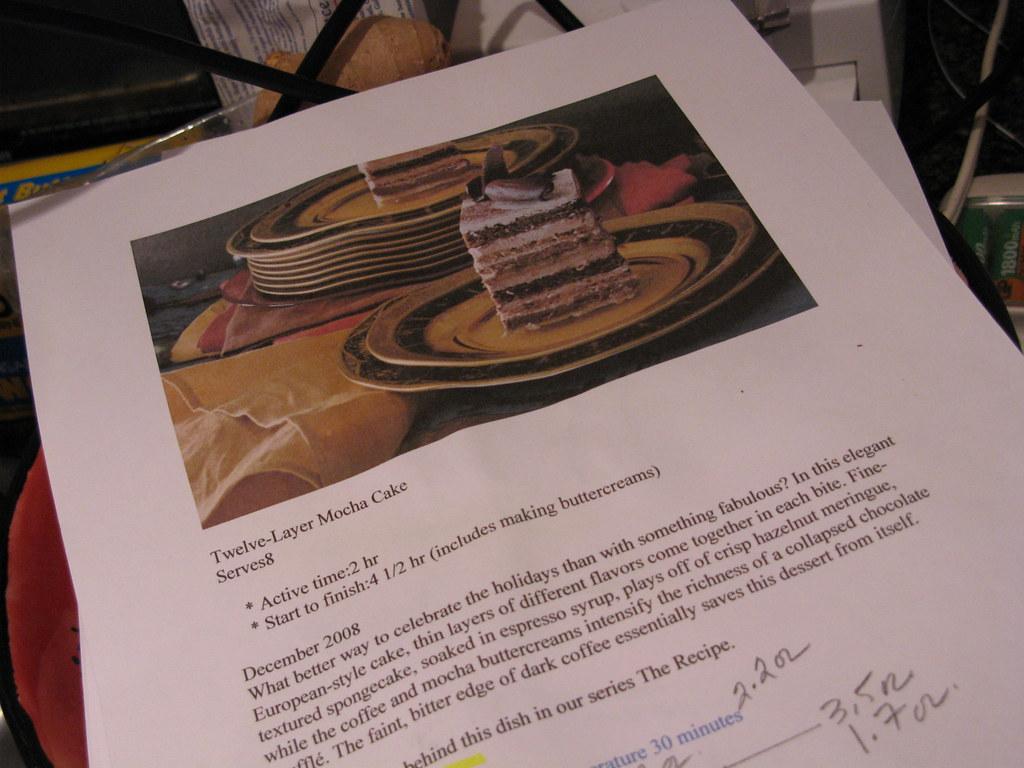Preparing 12-layer mocha cake, part 1 | Thanks, Jeanne, for ...